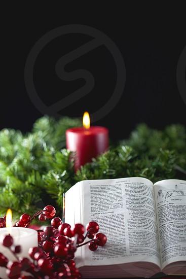 Christmas Bible Candles photo