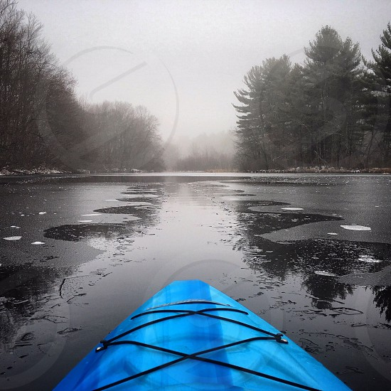 Icy kayaking in CT photo