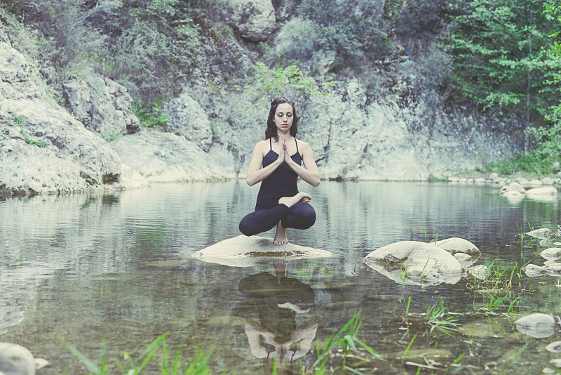 Yoga nature outdoors Ojai California beautiful photo