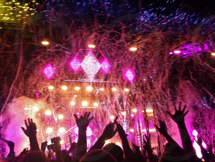 concert lights at night photo