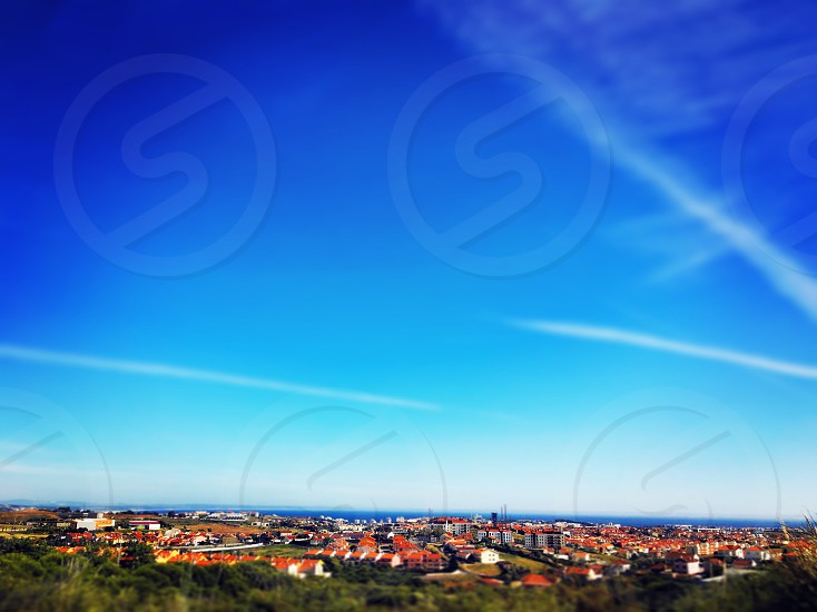 Lisbon Sky View blue sky landscape  photo