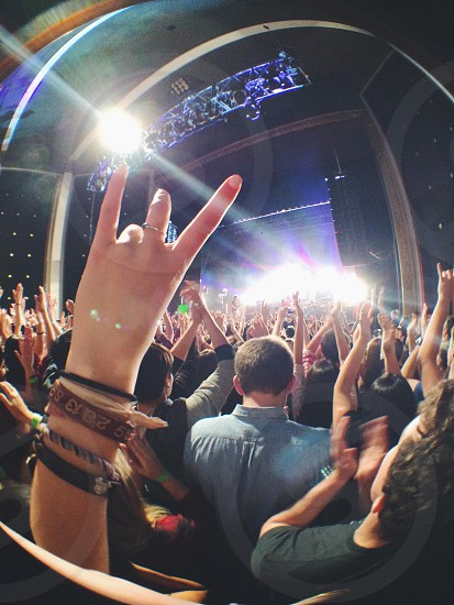 Concert hands in the air photo