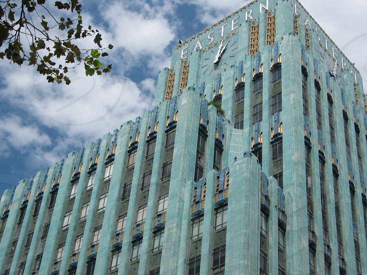 The Eastern Columbia Building - Historical Landmark in Downtown Los Angeles California photo