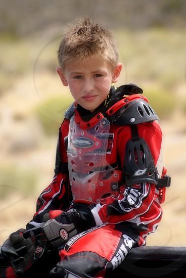 Boy in Dirt Bike Gear photo