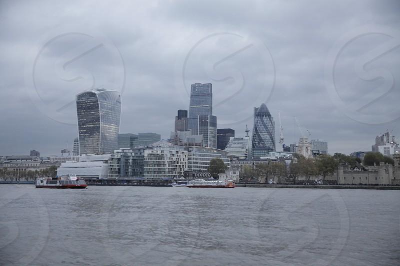 Cloudy London UK. photo