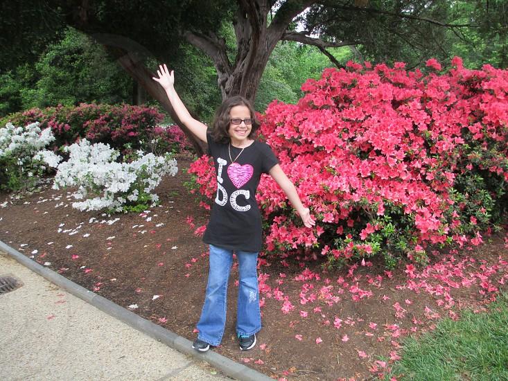 A Girl loving the Garden! photo