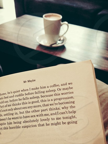 Coffee and a book photo