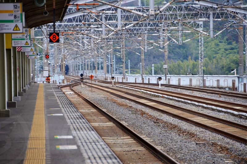 brown train railway  photo