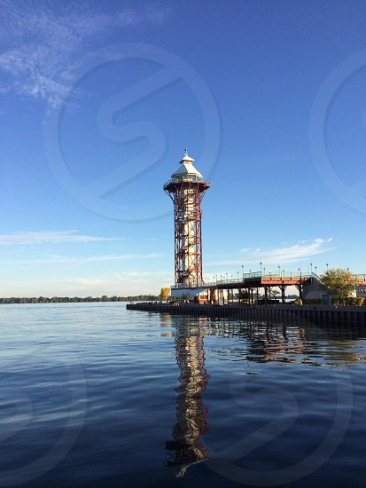 Bicentennial Tower on Dobbins Landing on Erie's Bayfront photo