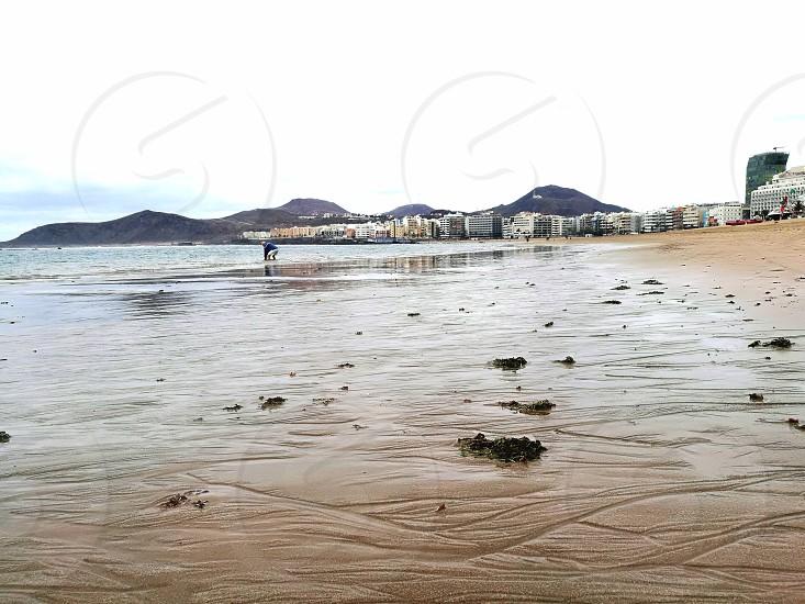 Las Palmas beach landscape in Gran Canaria photo