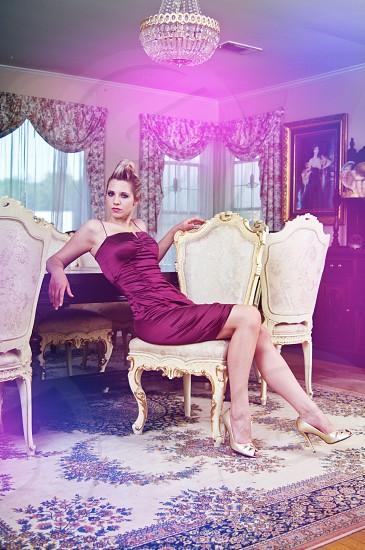 fashion editorial studio glamour pose youth clothing dress clean fresh elegant model avante garde photo