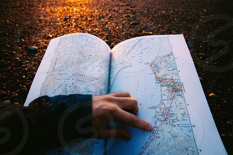 Map Alaska beach sunset dslr travel lifestyle nature  photo