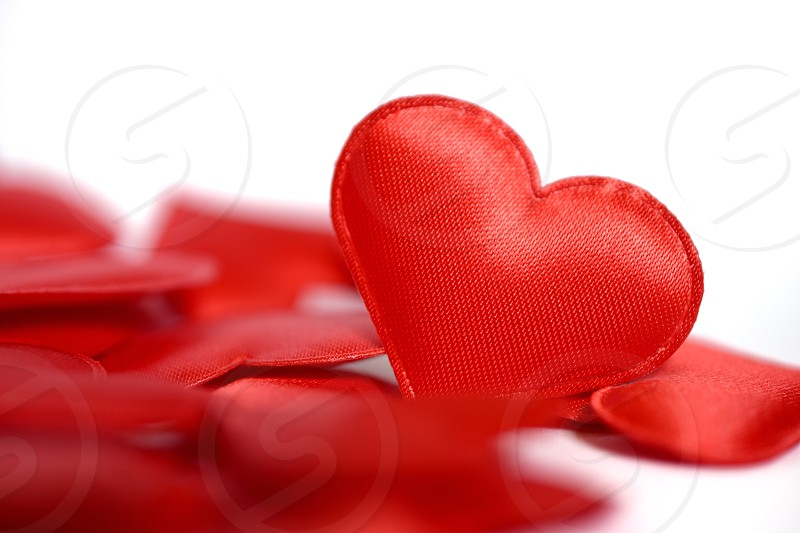 Red hearts love photo