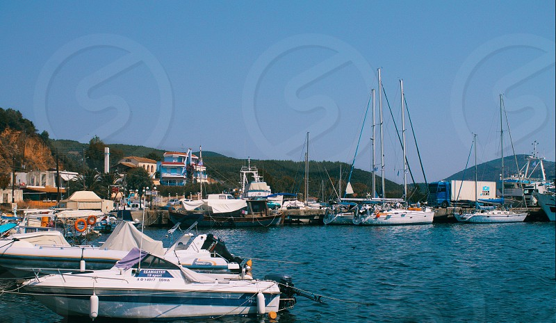 Yacht port in Greece photo