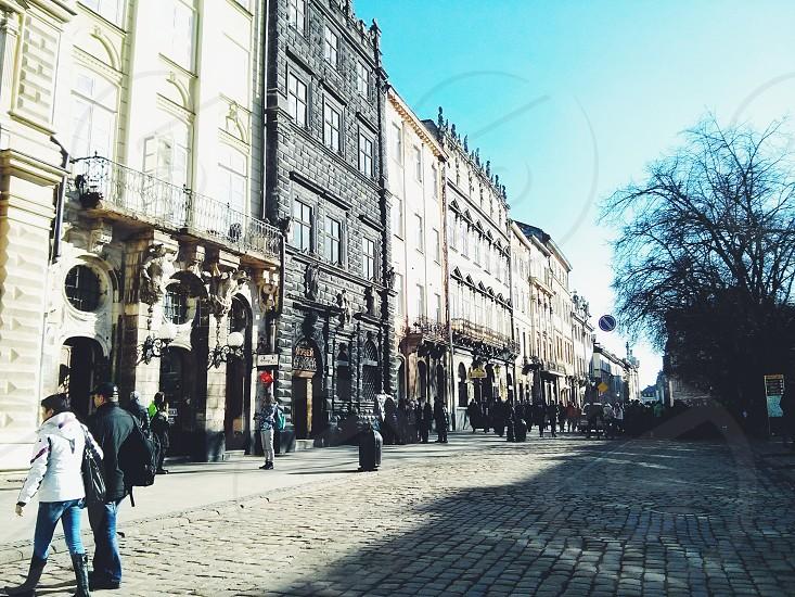 Lviv Ukraine old city cityscape outdoor  street spring photo