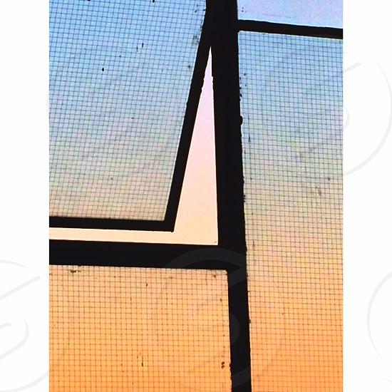 London window sunset  photo