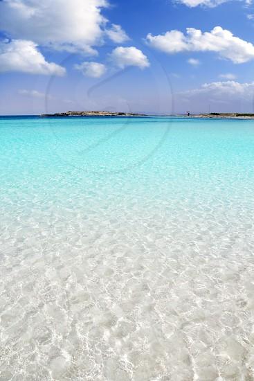 Formentera beach illetas a white sand with turquoise water perfect Balearic paradise photo
