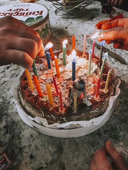 Birthday celebrations and cake. photo