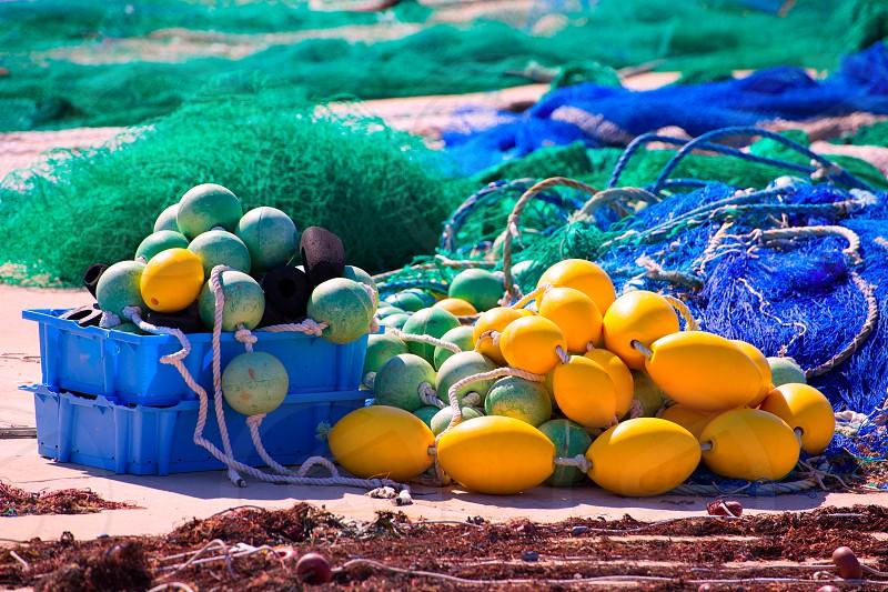 Fihing tackle in Formentera Mediterranean Balearic islands of Spain photo