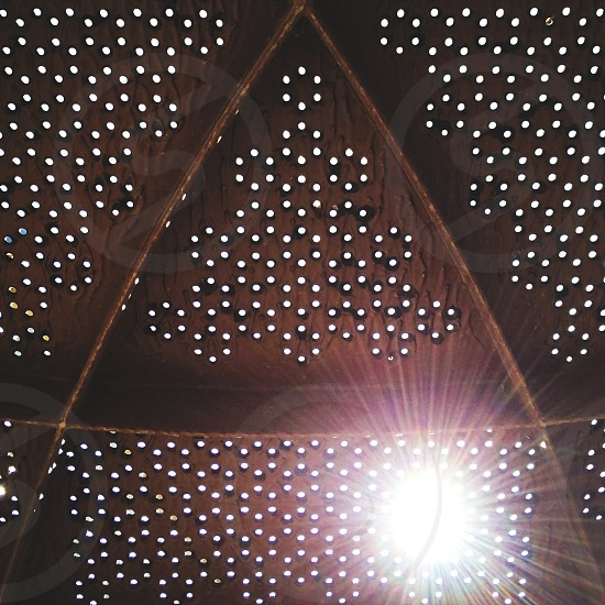 wooden triangle ceiling photo