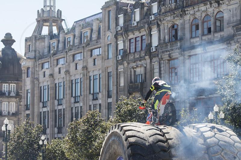 the parca da liberdade in Ribeira in Ribeira in the city centre of Porto in Porugal in Europe. photo