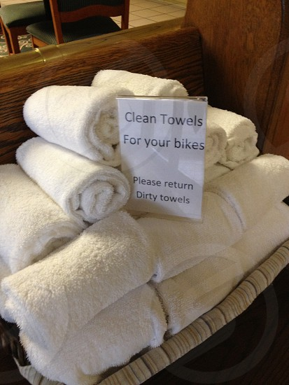 Towels for motorcycle cleaning photo