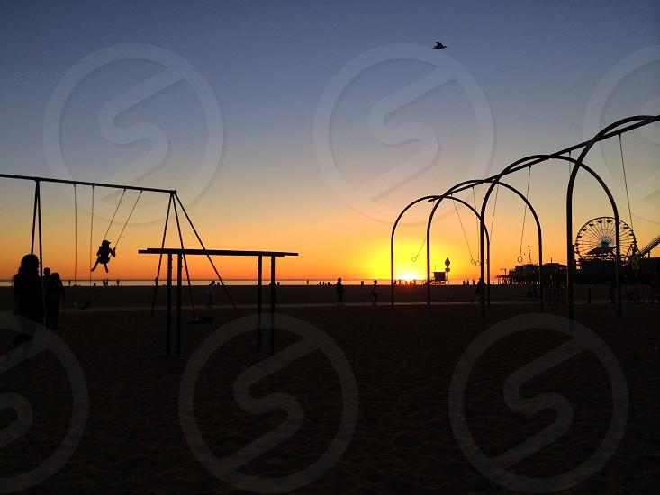 Muscle Beach sunset photo