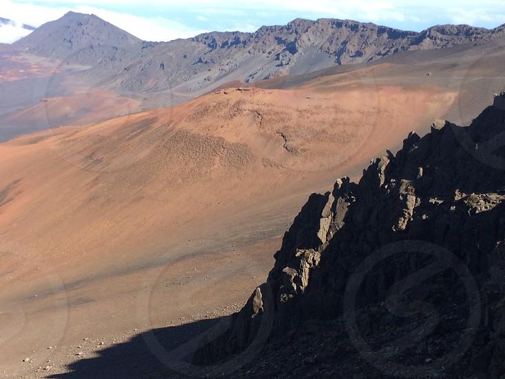 Hawaii maui haleakala mountain rocks photo