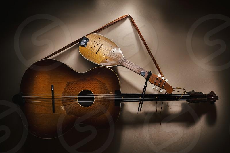 Original Balkan string instruments part of Serbian Croatian and Hungarian tradition and folklore.  photo