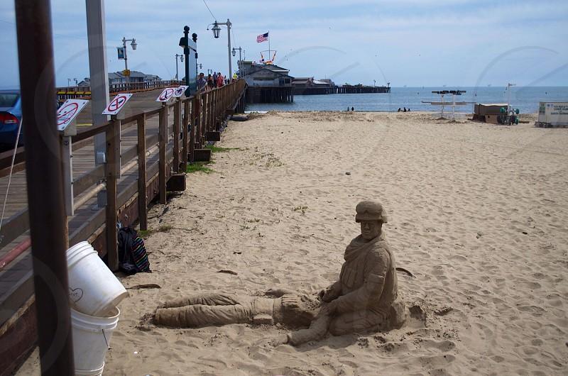 soldier sand art photo