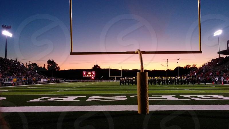 #football #sunset #goalpost #field photo