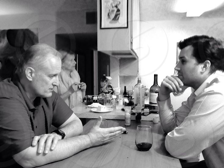 Conversation family photo