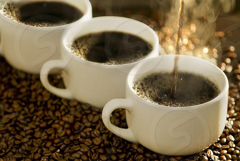 coffee beans mug energy photo