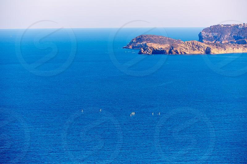Xabia Javea Mediterranean village in Alicante aerial view photo