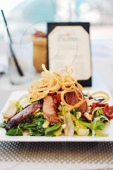Lunch in Miami Florida. photo