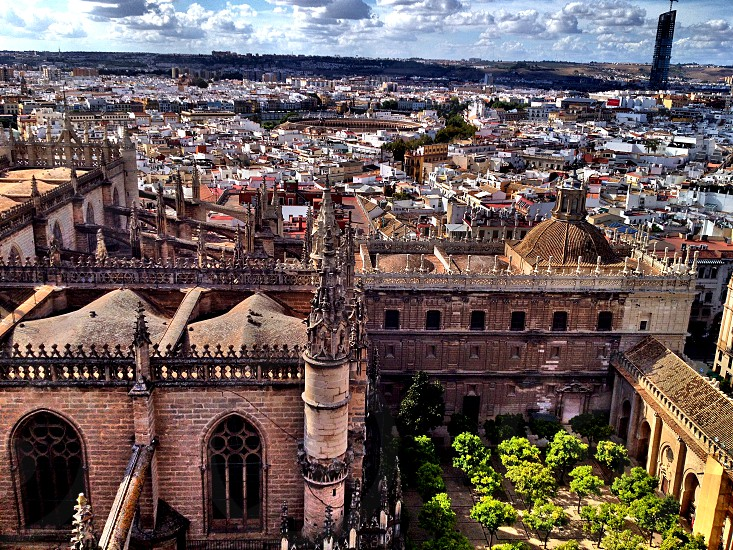 One of the largest cathedrals in Europe - Sevilla Spain  photo