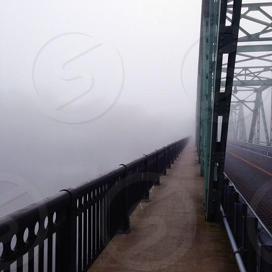 black metal bridge railing photo