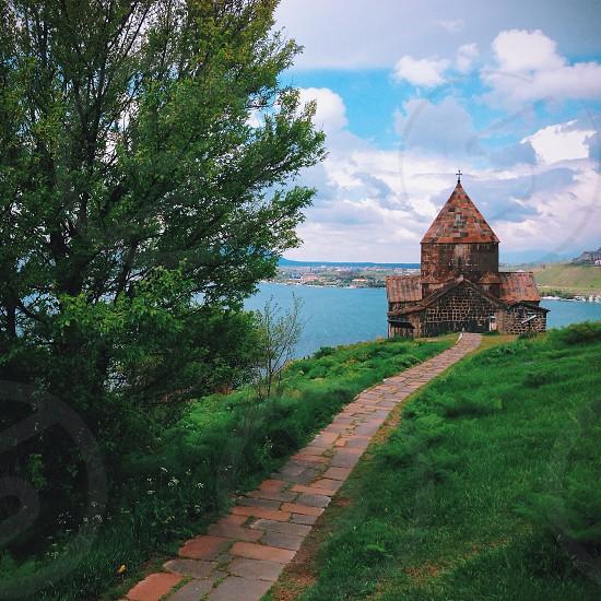 Sevanavank Monastery on Lake Sevan in Armenia photo