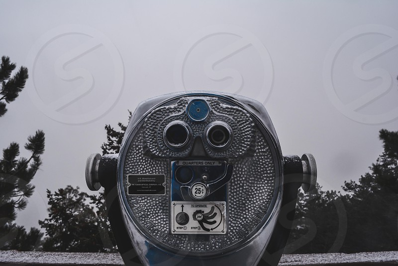 stainless steel coin operated binoculars photo