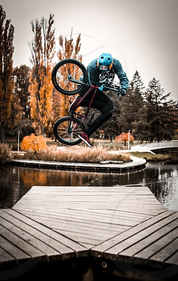 From session with Czech pro BMX rider Michael Beran  photo