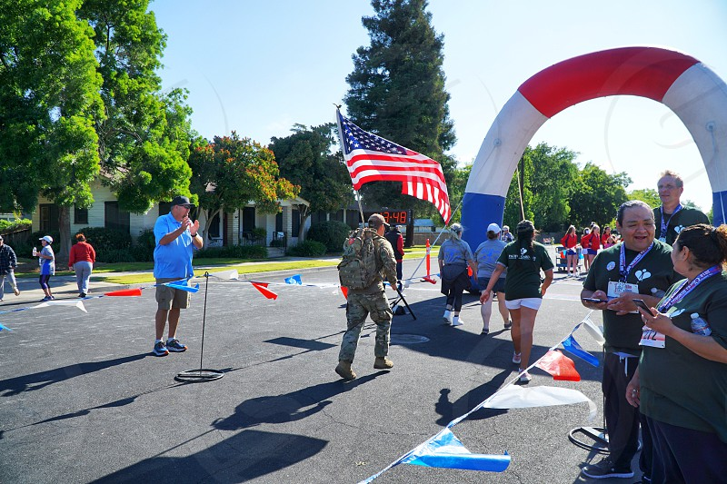 Memorial Day 5k flag us USA  photo