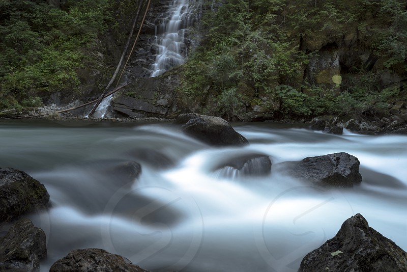 Pacific North West Fraser Valley Waterfalls Streams and Creeks Landscapes. photo