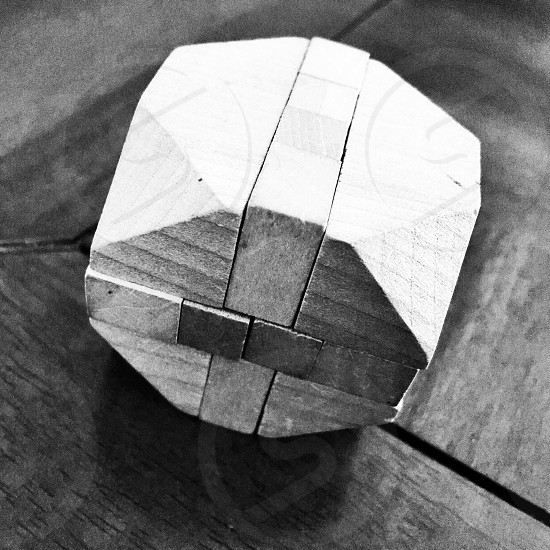 Wooden puzzle.  photo