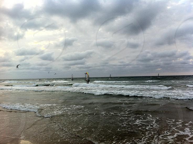 windsurfing sea photo