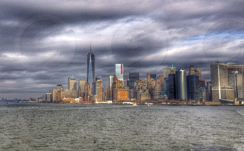 cityscape near ocean photography  photo