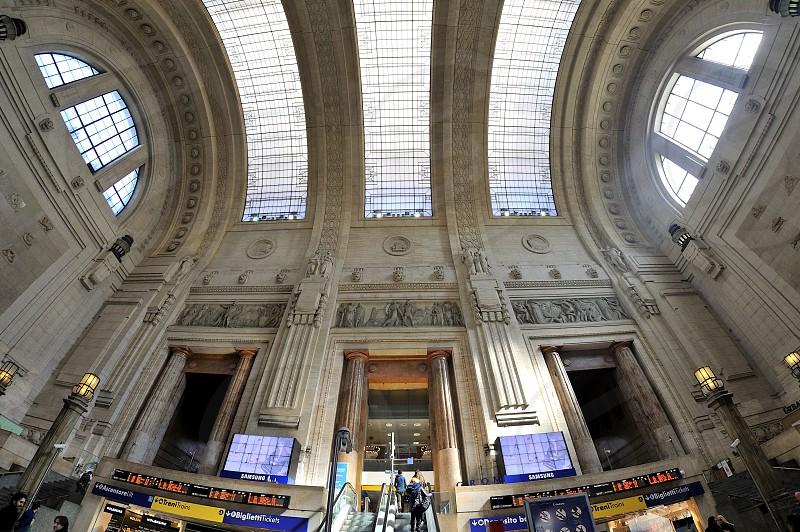 Milano Italy - Train  central station  photo