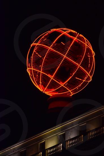 Orange world round night bright  photo