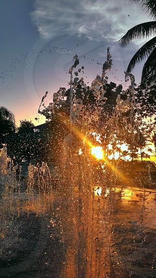 Splashing water photo