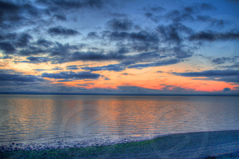 Sunset at Marine Park Bellingham WA photo
