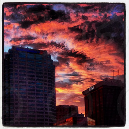 Sunset over Tampa FL photo